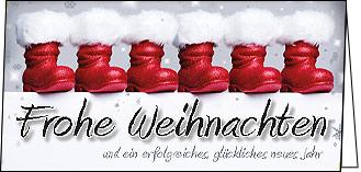 Weihnachtskarten Die Wahren Nikolaus Schuhe